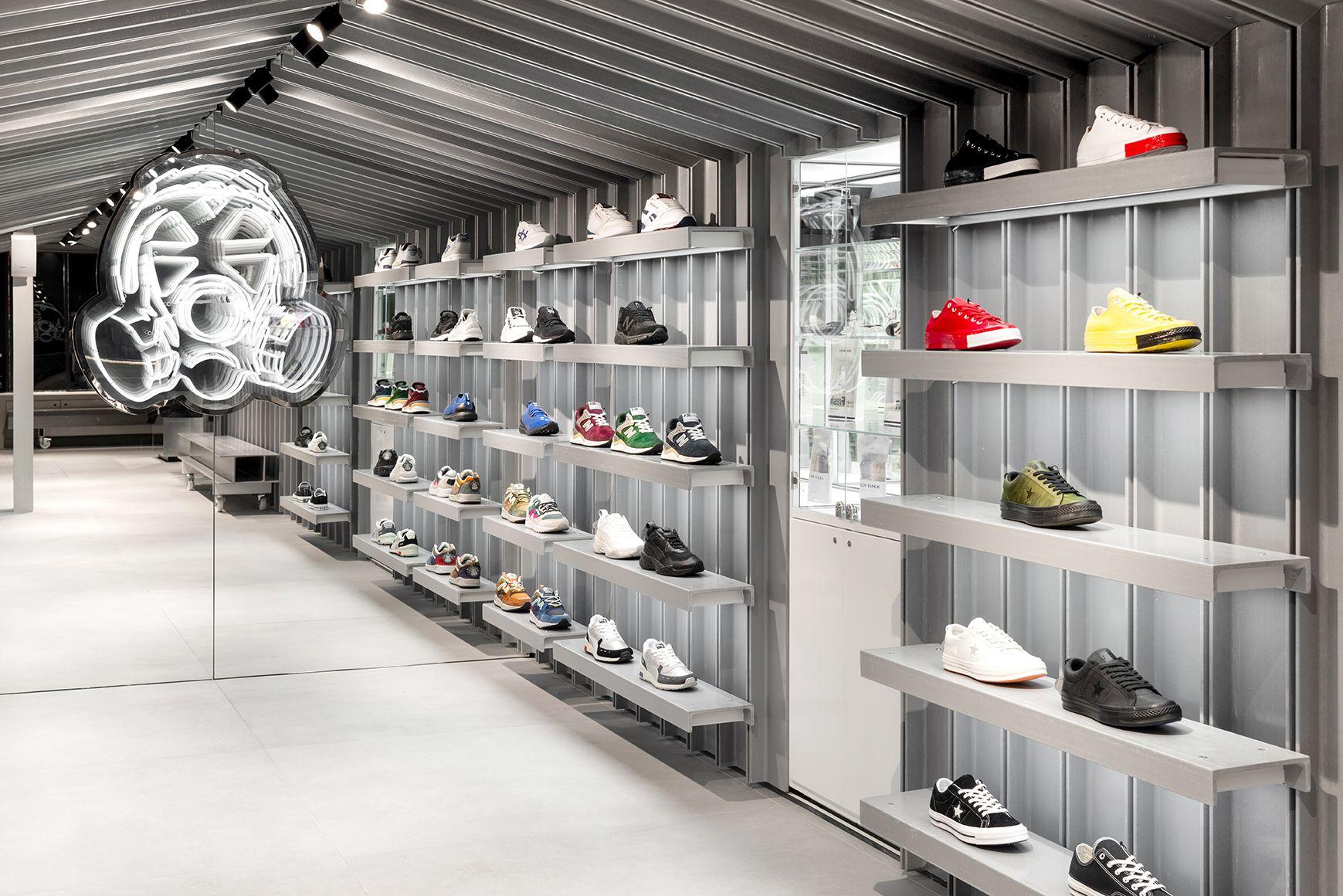 Counterfeit Studio. Sneaker display