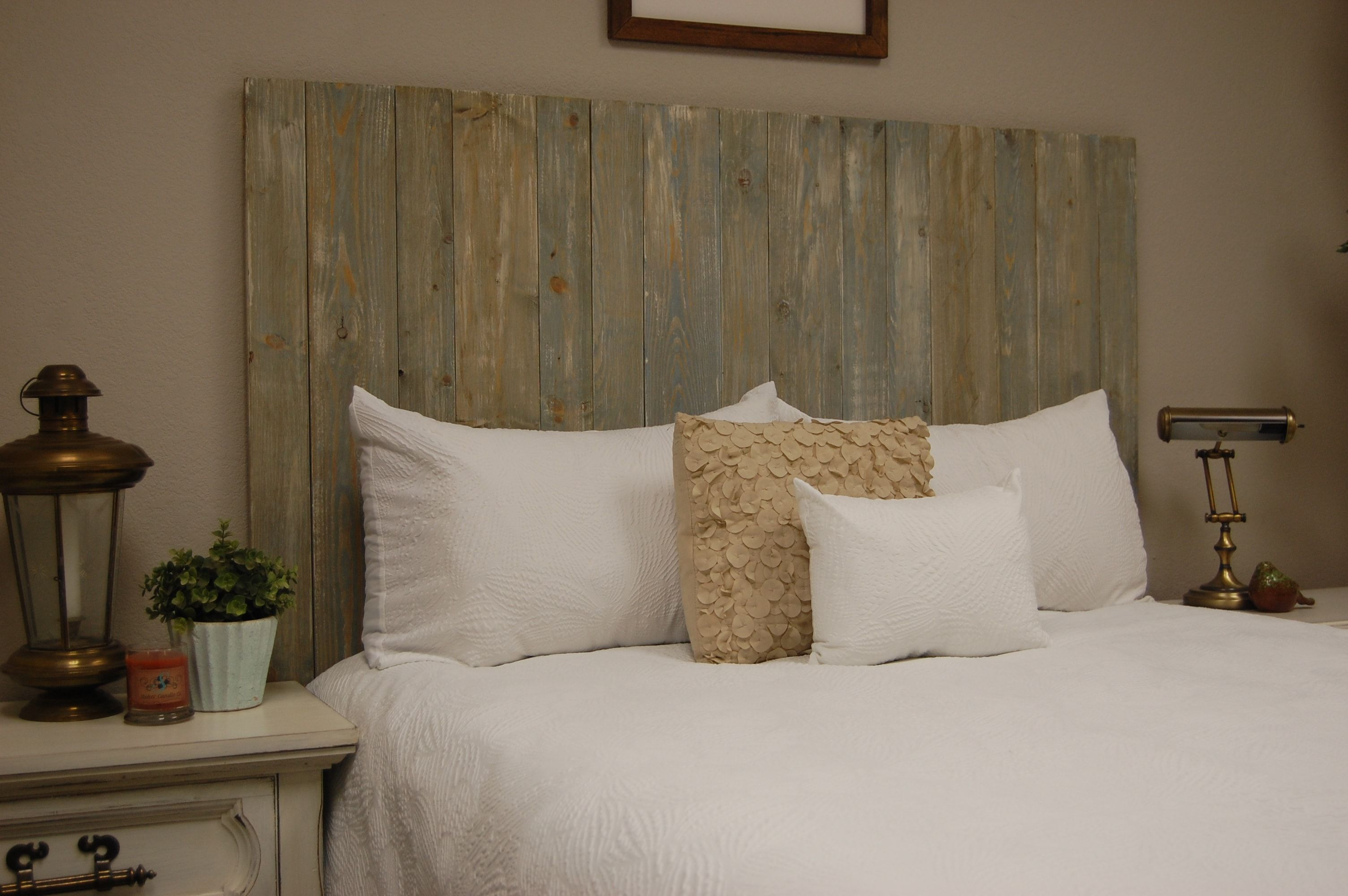 Blue Powderwash Beautiful bedrooms, Headboard designs