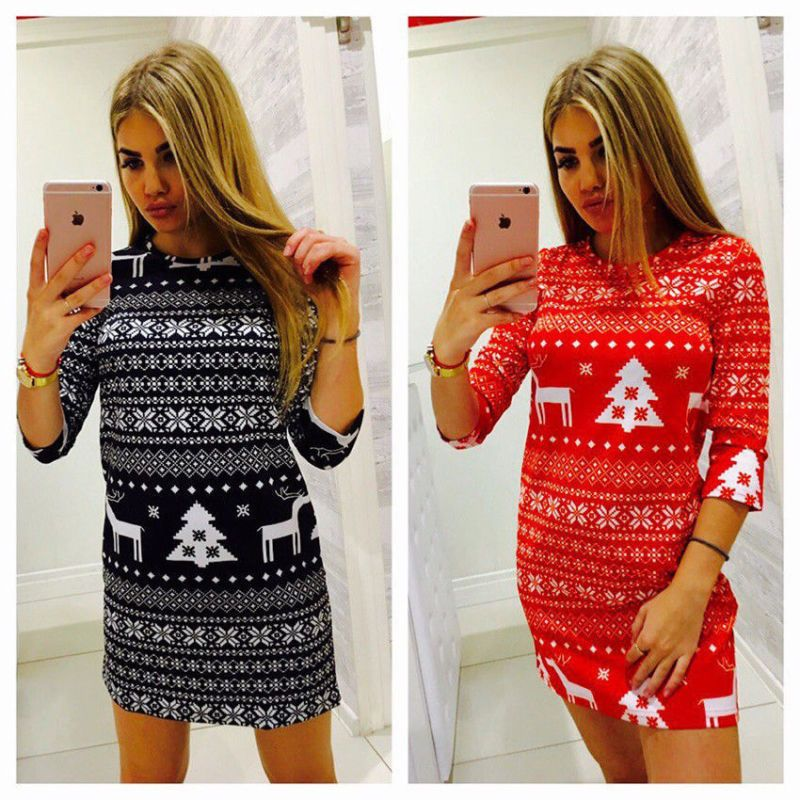 Cool Great Hot Winter Women Christmas Party Dress Knit Sweater Slim