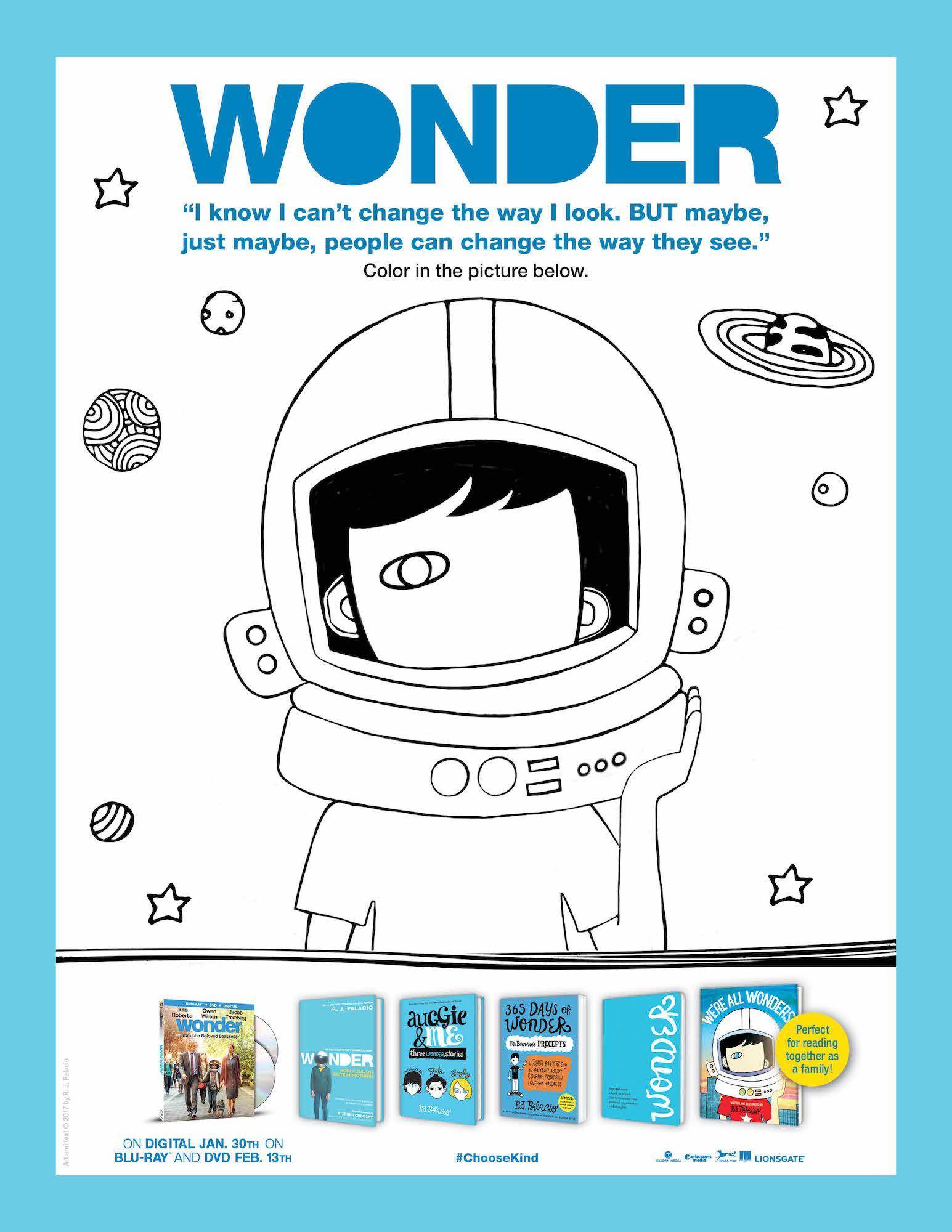 Printable Wonder Activity Sheets Bluray Giveaway Life Family Joy Wonder Activities Activity Sheets Wonder