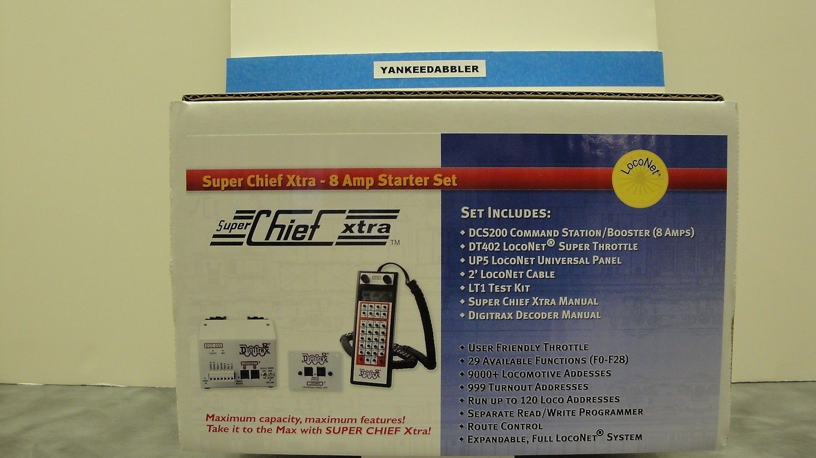 Digital Control Devices 158704 Digitrax Super Xtra Chief Starter Set 8 Amp Yankeedabbler Buy It Now Only 274 95 On Ebay Digital Control With Images Model Trains