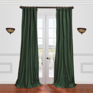 Half Price Drapes Solid Faux Silk Taffeta Curtain Panel Color