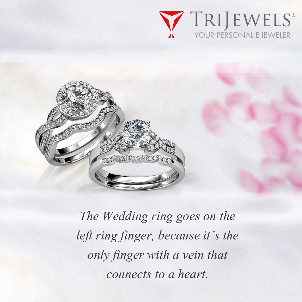 The Symbol of Love. Bridal ring sets, Left ring finger
