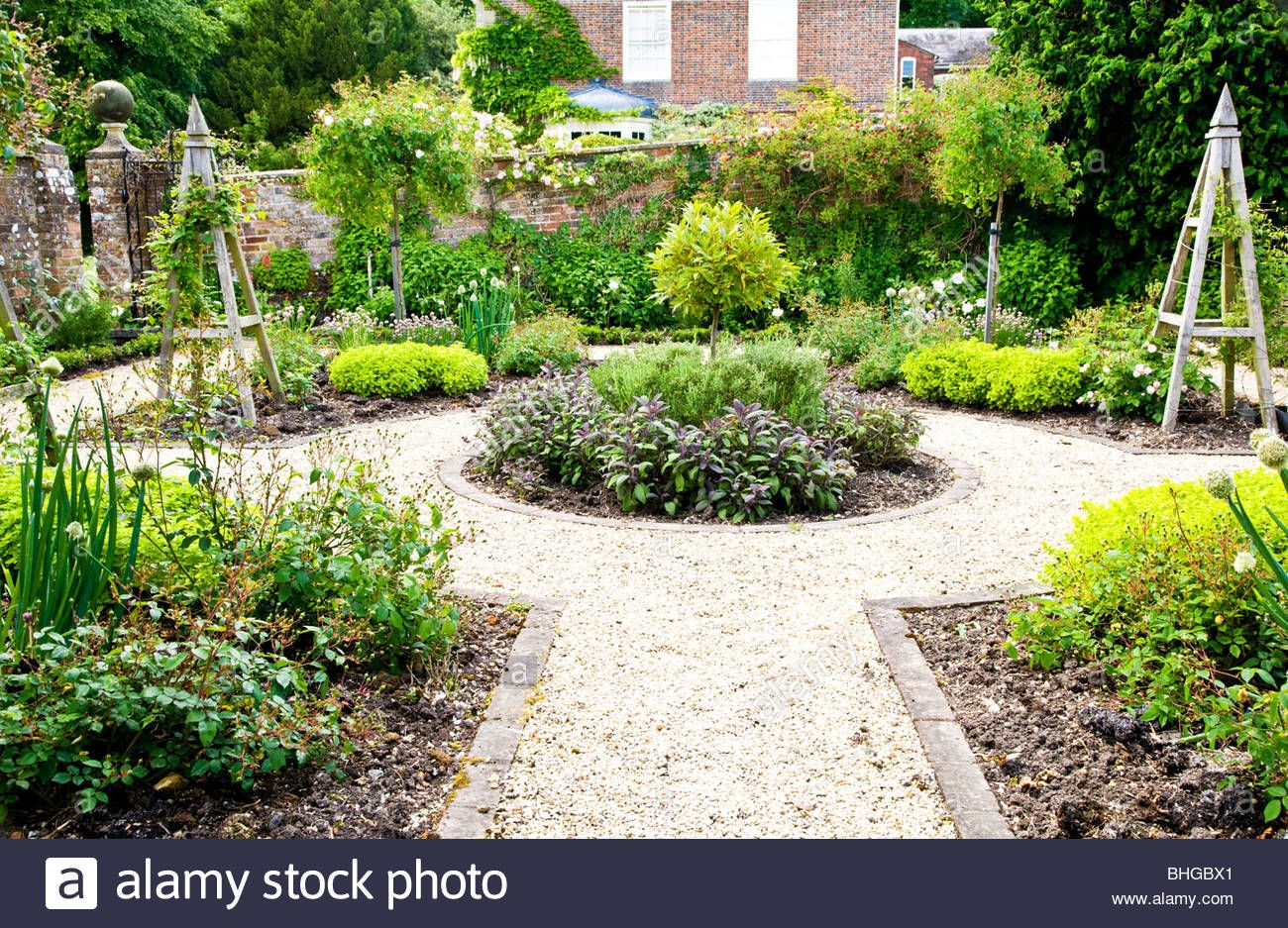 A Formal Herb Or Kitchen Garden In The Grounds Of An English Garden Layout Kitchen Garden Herb Garden Design