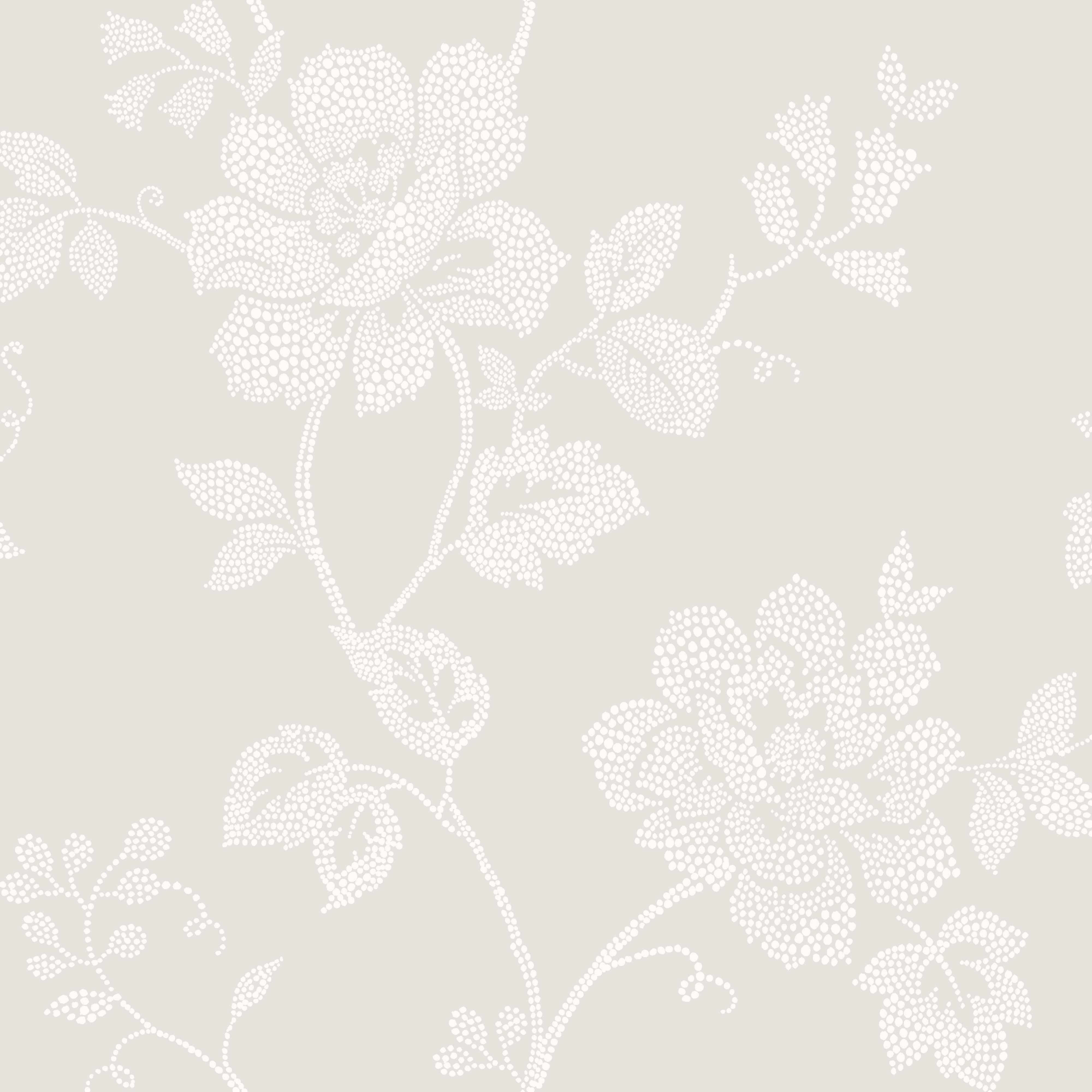 Home diy wallpaper illustration arthouse imagine fern plum motif vinyl - Colours Tara Dot French Grey Floral Wallpaper
