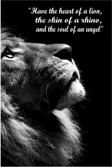 Heart Of A Lion Quote Lion Angel Tattoo Angel Tattoo Men Heart Of