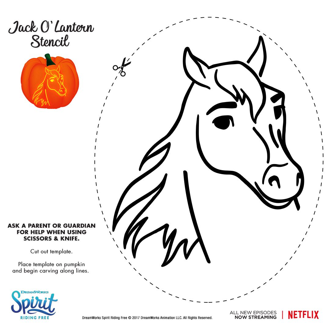 pumpkin template horse  Pin by S O P H I A on Horses in 7 | Pumpkin stencil ...