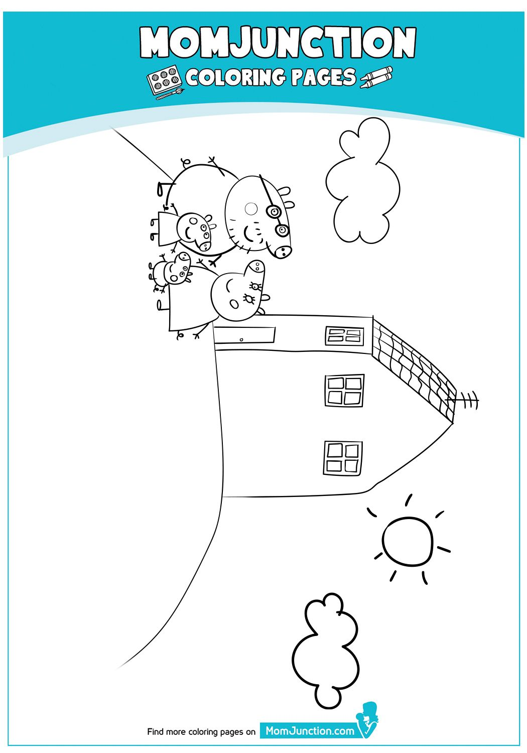 The Peppa Pig Coloring Page In
