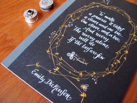 Emily Dickinson quaderno poesia scritta a mano di PemberleyPond, €18.00