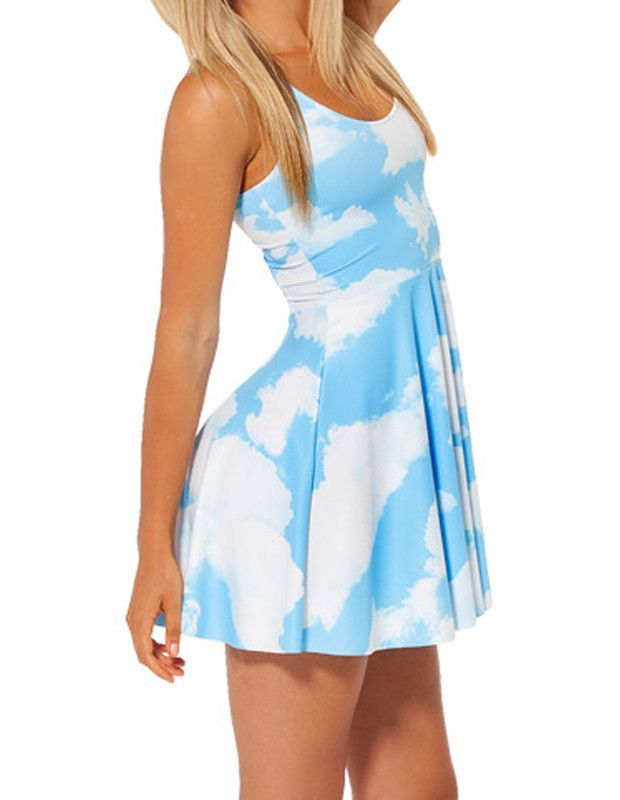 188adca5ea3 Gender  Female Color  Blue And White Pattern  Colorblock Material  Spandex  + Nylon