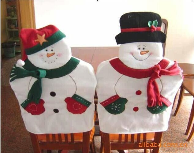 Lovely Christmas Chair Covers Mr Mrs Santa Claus Decoration