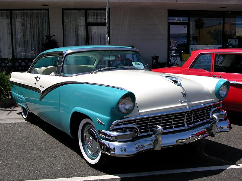 1956 Ford Fairlane My first car! Very fast, earned me 3
