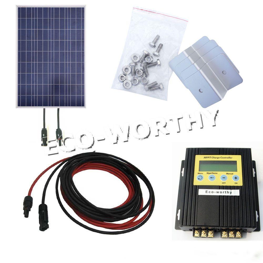 100watt Solar Panel With Mppt Controller Bracket For 12v Home Battery Charger Solar Generators 100 Watt Solar Panel Solar Panels Solar Panel Kits