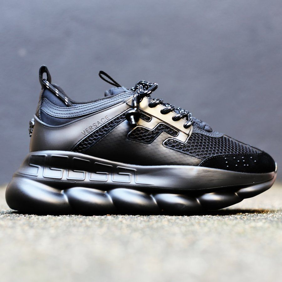 NEW VERSACE - Chain Reaction All Black
