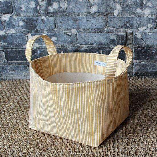 DIY Fabric Bin with Handles
