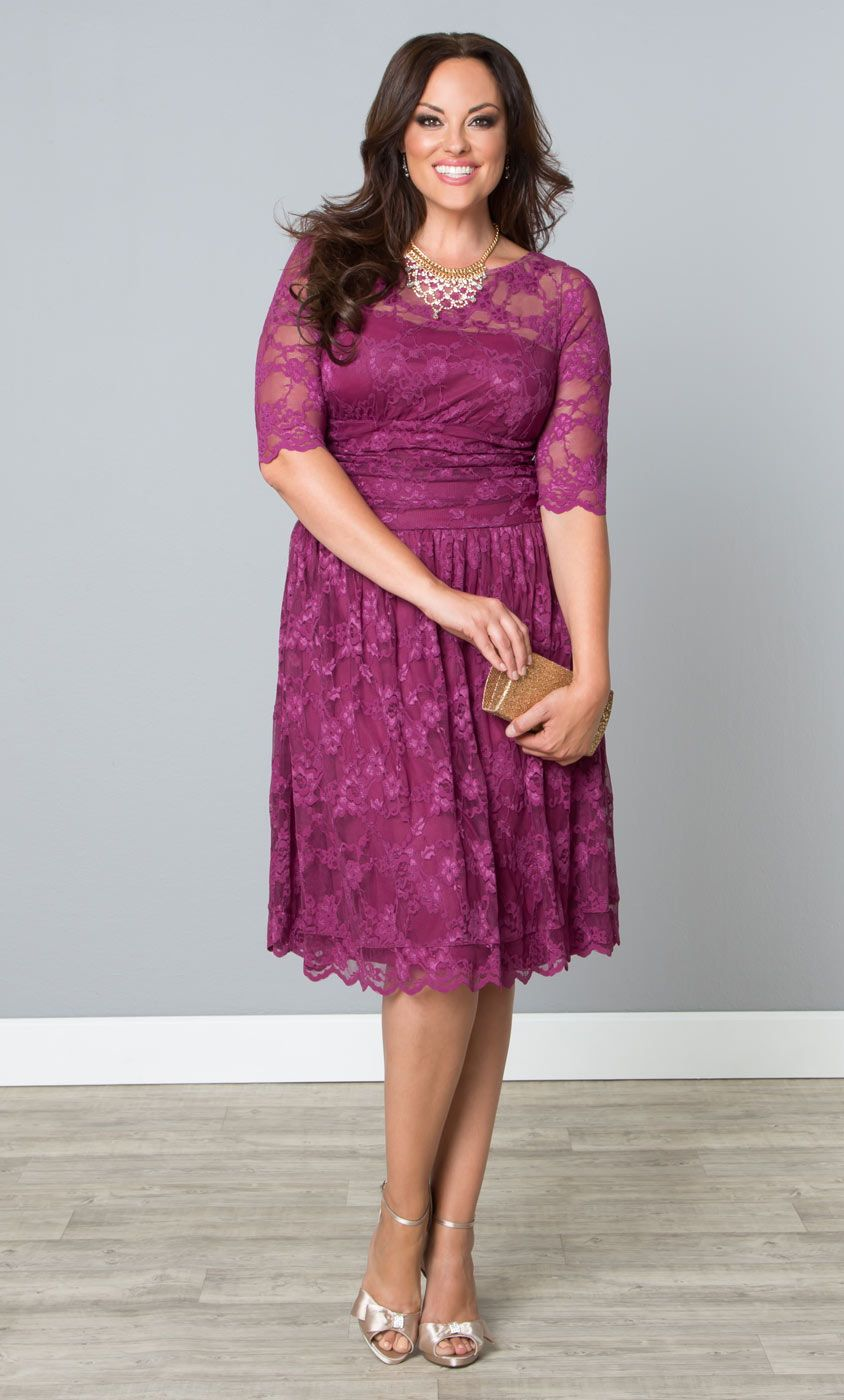 Our plus size Scalloped Luna Lace Dress is perfect for any occasion ...