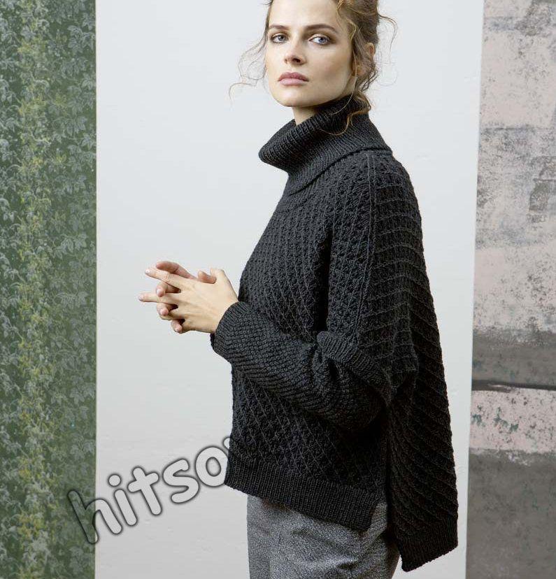 свободный вязаный свитер схема фото 1 Bayan örgü Yelek Ve Ceket