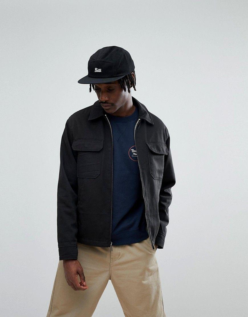BRIXTON CENTRO WORKWEAR JACKET WITH PLAID LINING - BLACK.  brixton  cloth   512d14e2962b