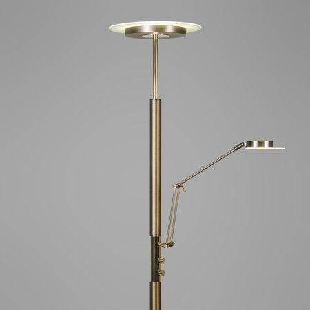 deckenfluter luxus mit leseleuchte bronze deckenfluter innenbeleuchtung stehleuchte. Black Bedroom Furniture Sets. Home Design Ideas