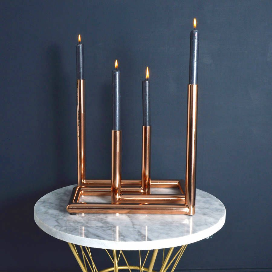 Diy Candelabra: Copper Pipe - Home Ideas - DIY Projects