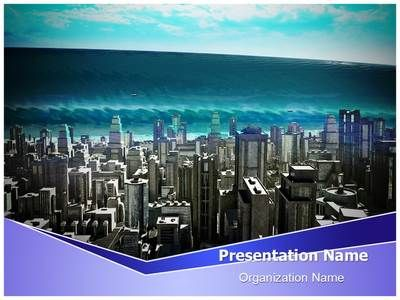 Tsunami Wave Powerpoint Template is one of the best PowerPoint - water powerpoint template