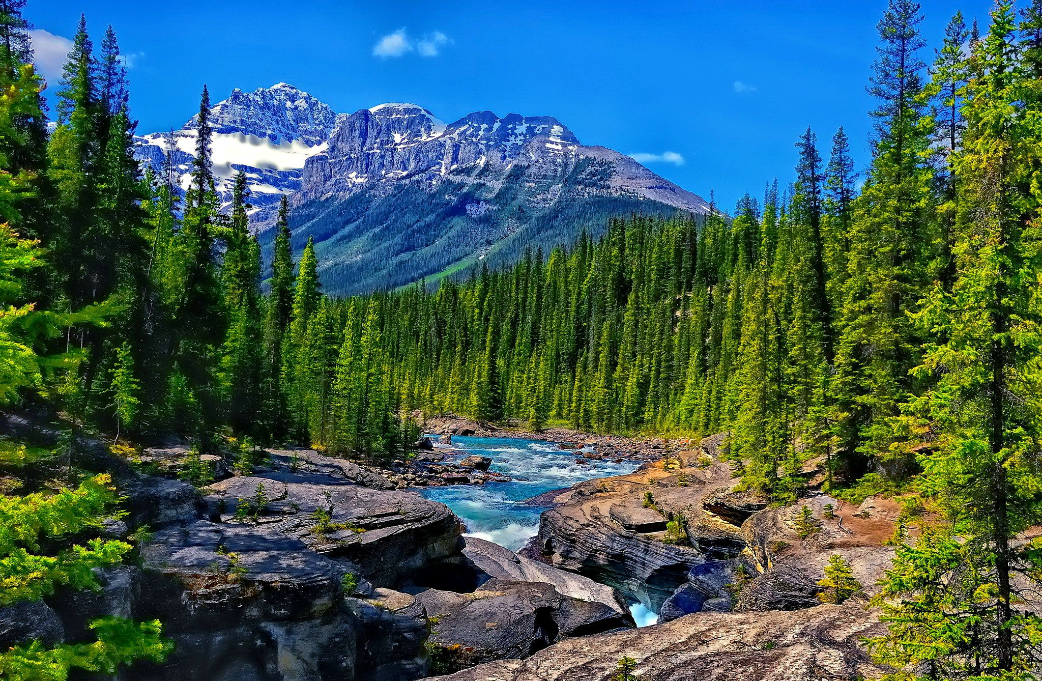 Mountain Stream Wallpapers Boreal Forest Mountain River Hd