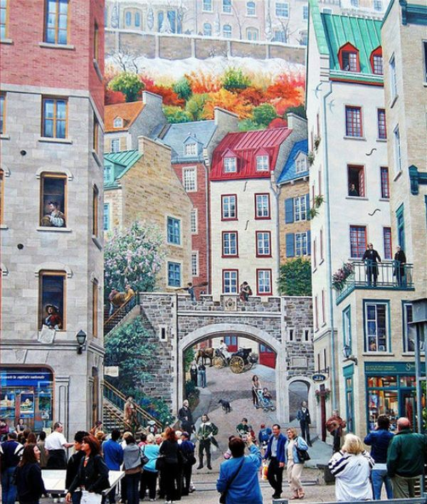 Fresco Wall Painting Quebec City Quebec Simply Amazing Detail To