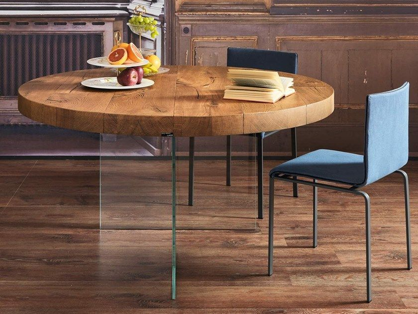 Round wooden dining table AIR WILDWOOD Round table by