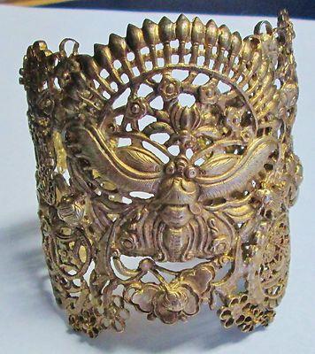 Fabulous Vintage Sterling Silver Stephen Dweck Egyptian Revival Cuff Bracelet | eBay