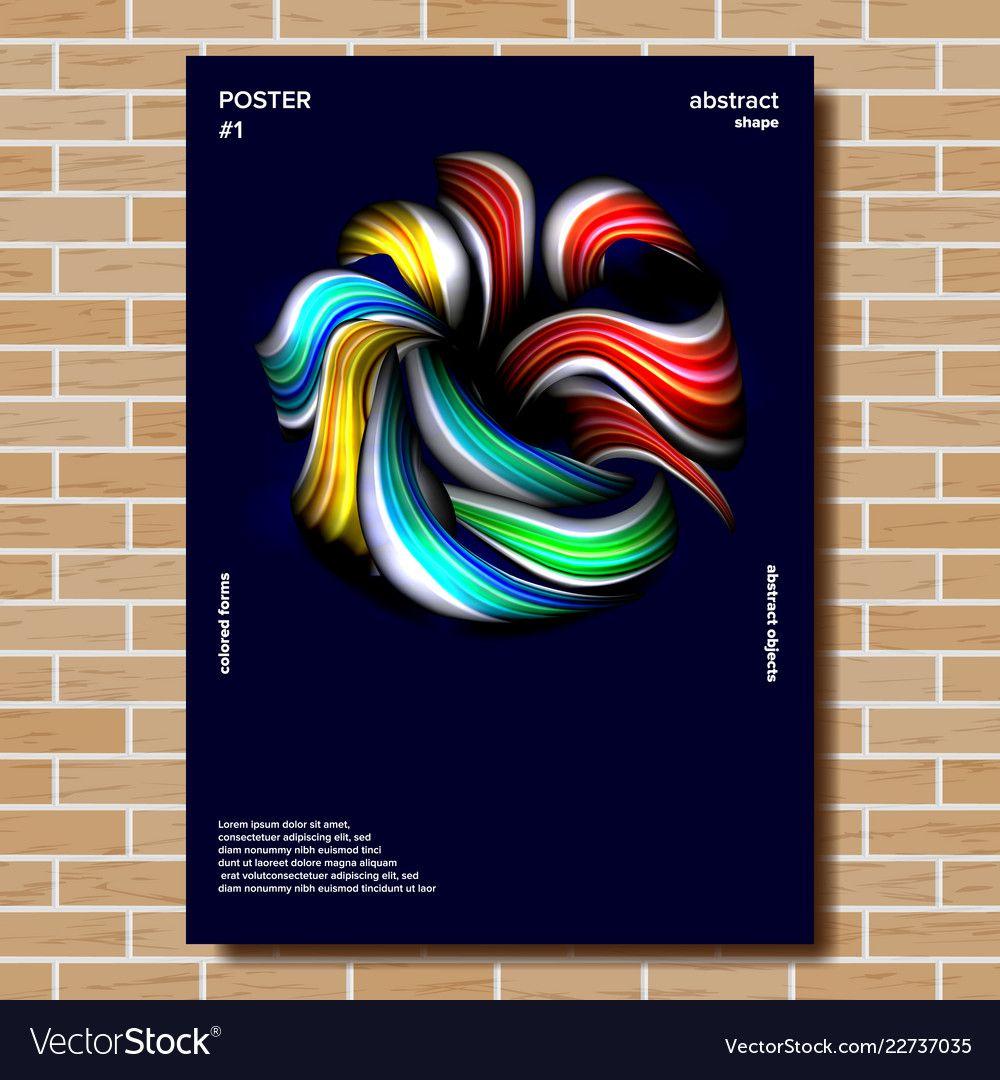 Modern poster minimal shape splatter vector image on
