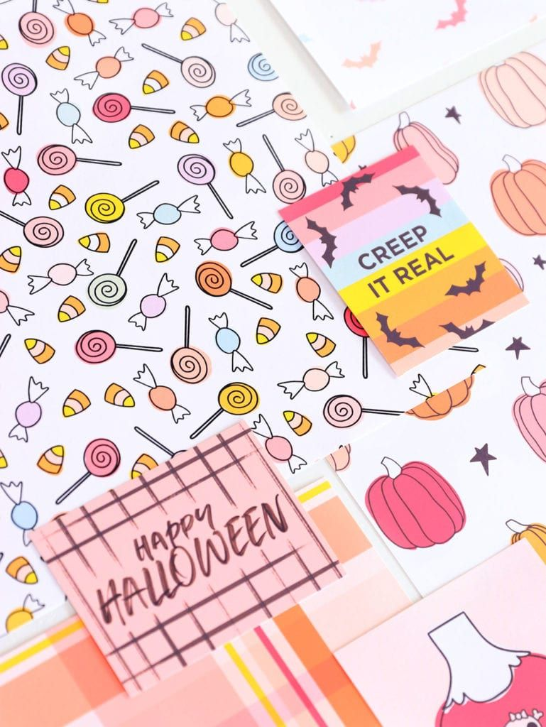 image relating to Printable Halloween Cards named Cost-free Printable Halloween Cardstock with Canon Halloween