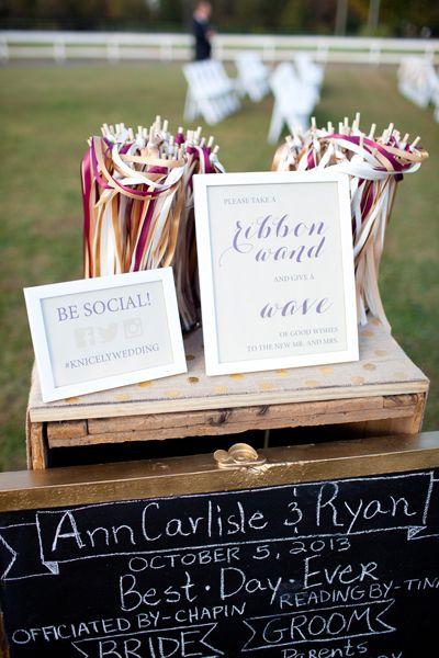 fall garnet and gold wedding by katie nesbitt wedding ribbon wandsgarnet