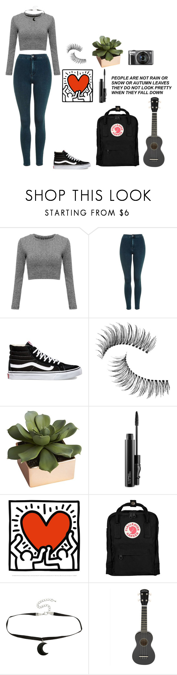"""""""Love is not a choice"""" by falienbulous ❤ liked on Polyvore featuring Topshop, Vans, Trish McEvoy, CB2, MAC Cosmetics, Fjällräven, grey, hyuna and ComingOut"""