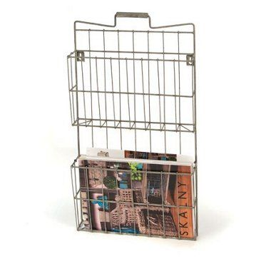 Slim Storage Gets The Magazines Off The Toilet Tank Check Out This Item At One Kings Lane Wire Ma Wall Mounted Wire Baskets Wire Basket Decor Wire Baskets