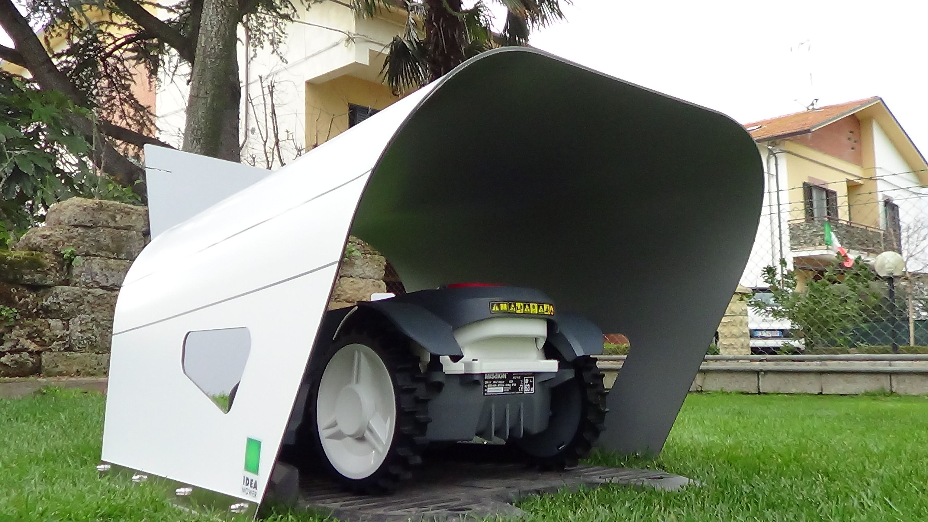 Husqvarna Automower Garage Mähroboter Carport Rasenmäherroboter