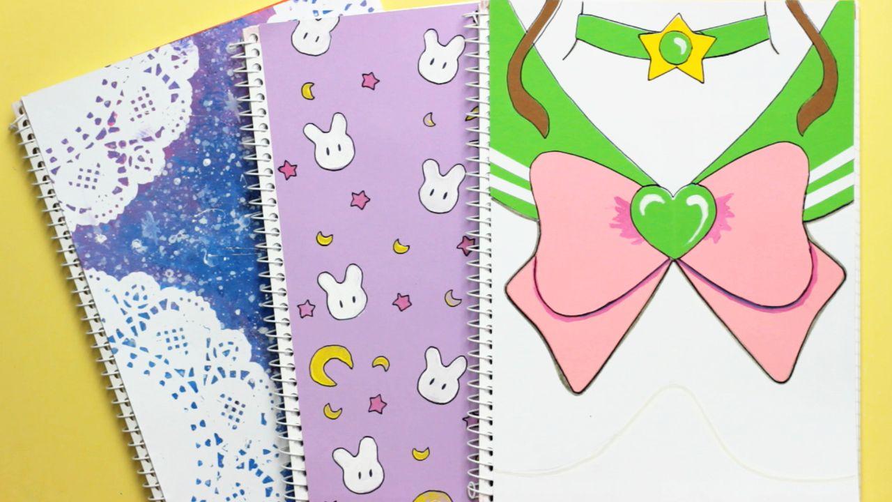 Diy Sailor Moon Notebook Covers Back To School Cuadernos