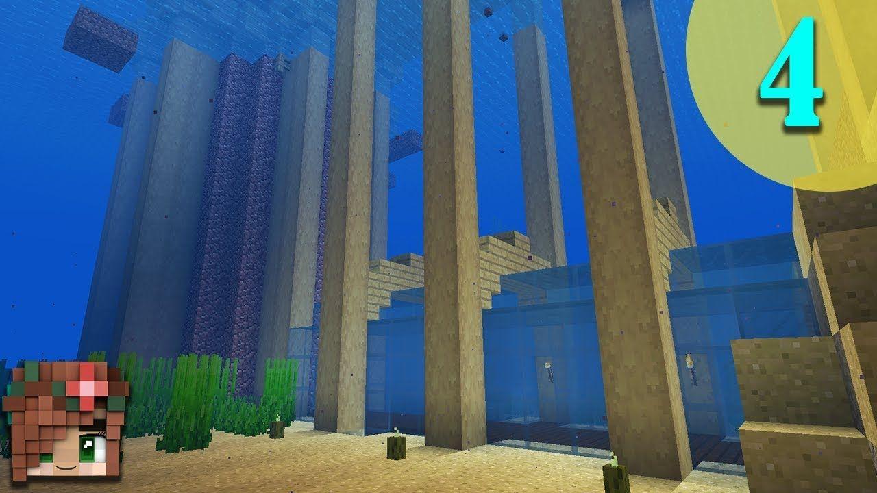Underwater Tunnel Vanilla Minecraft 1 13 Survival Let S Build Episod Minecraft Underground Minecraft Underwater Building