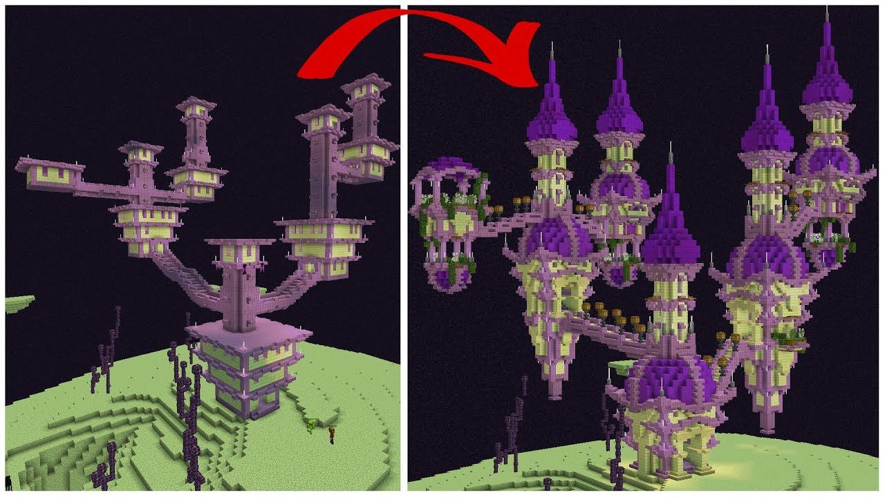 Let S Transform A Minecraft End City Youtube Minecraft Tips Minecraft Creations Minecraft Architecture