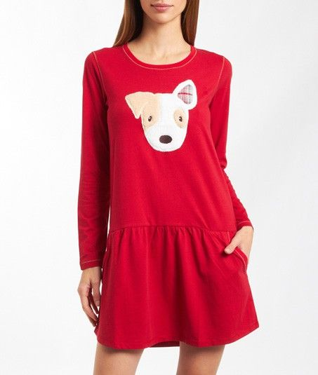 Etam night gown with fluffy dog print