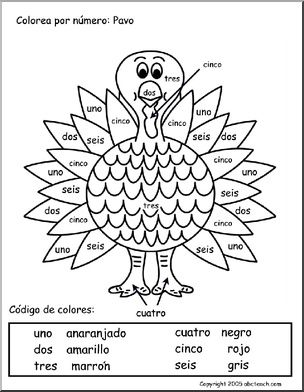 Spanish: Printable Coloring pages | abcteach | Spanish ...