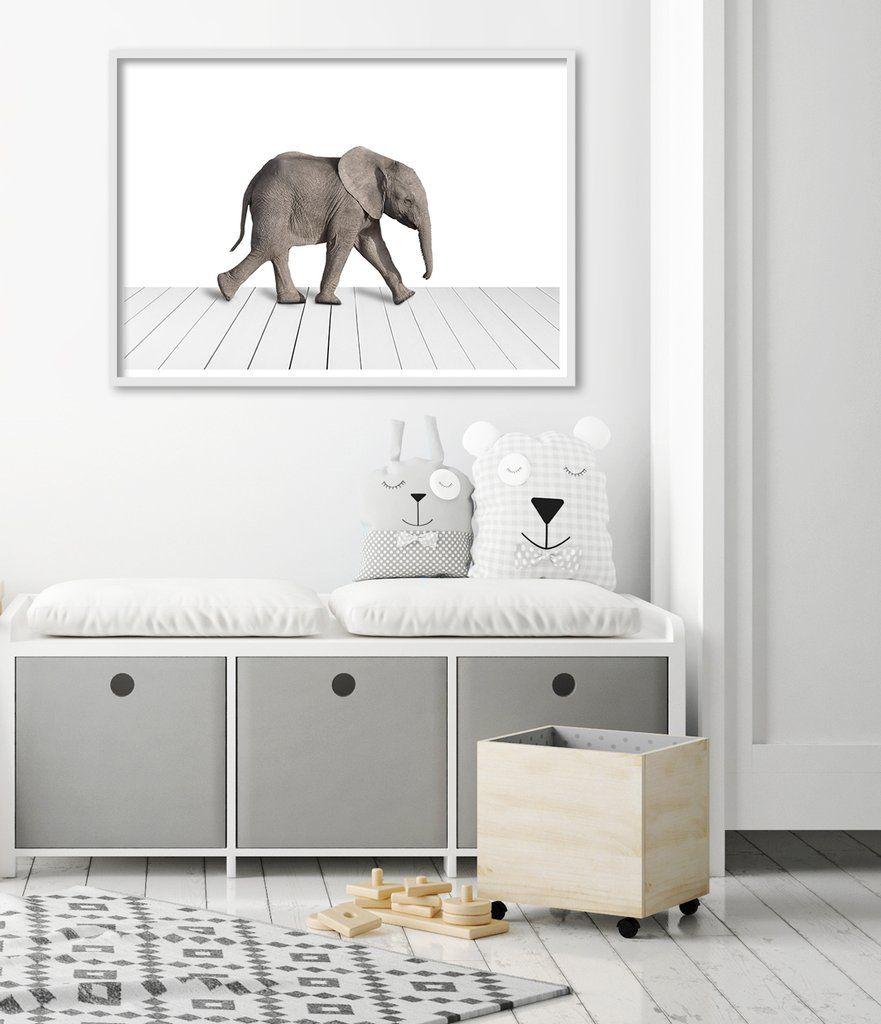 Baby elephant art print baby elephants playroom decor and bedroom