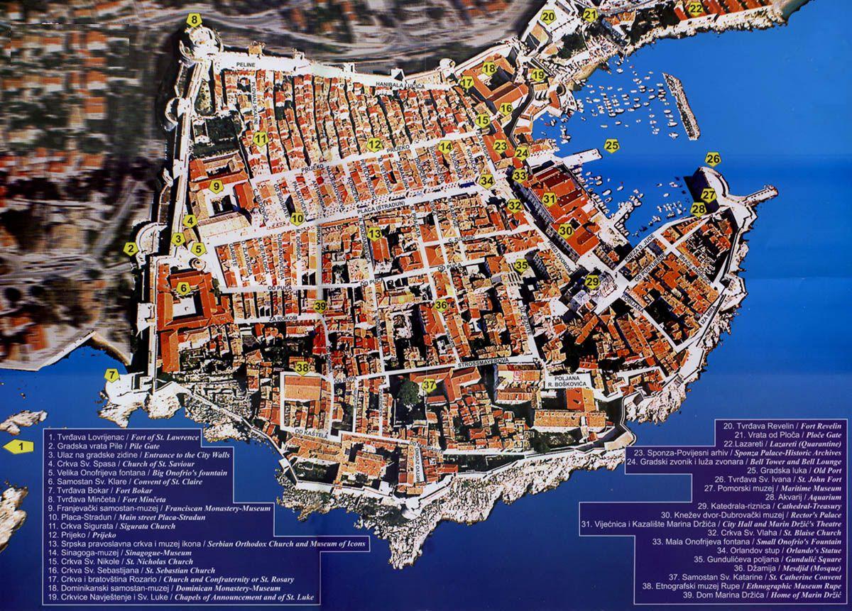 Dubrovnik croatia town map world ancient pinterest dubrovnik croatia town map gumiabroncs Images