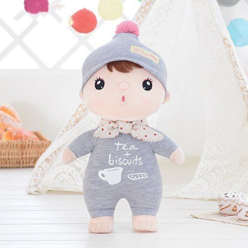Me Too Sweety Girl Baby Stuffed Dolls Gray 12 Inches+Gift Bag
