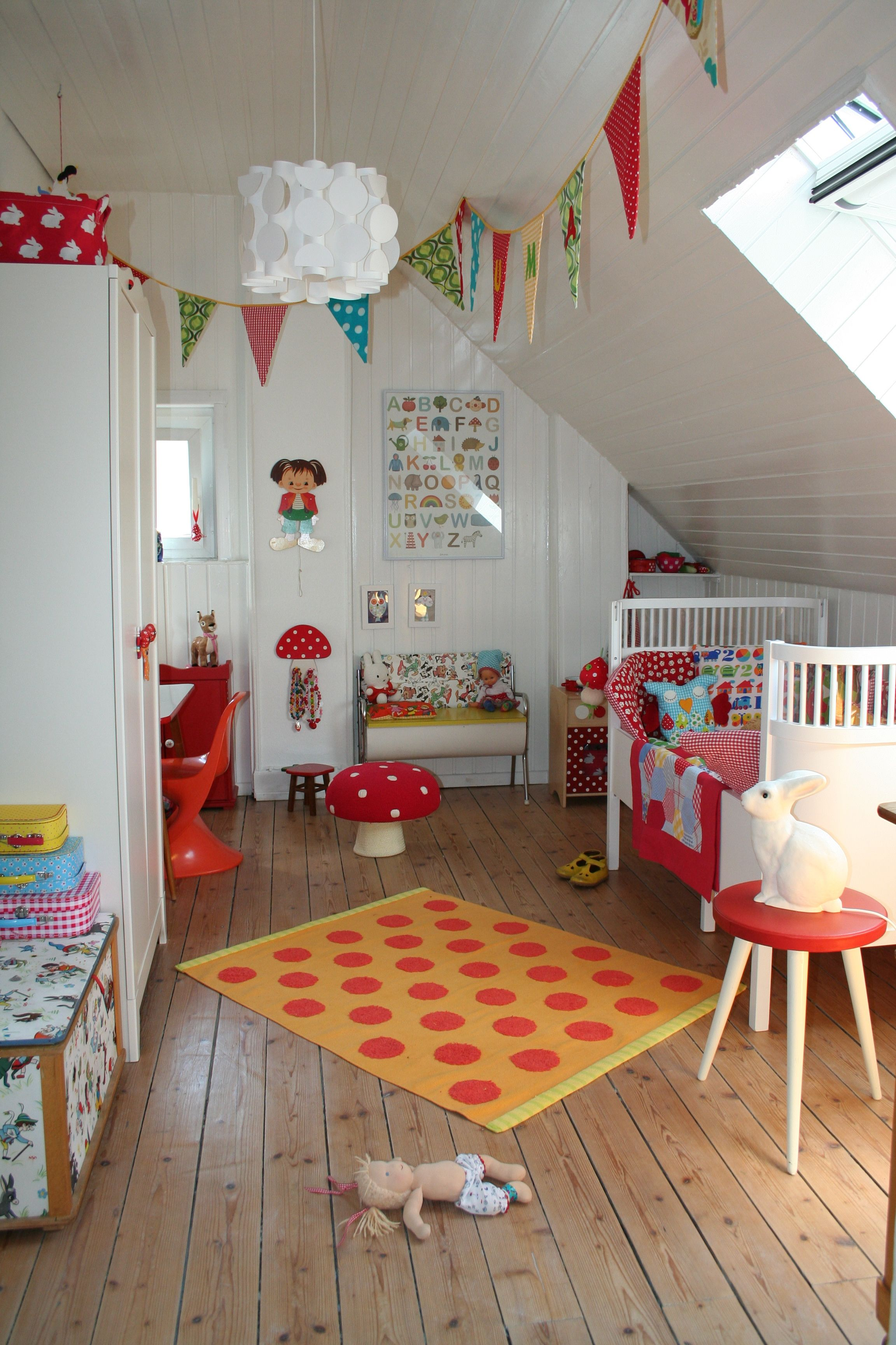 Love The Retro Colors For A Shared Kids Room Great For The