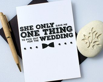 Funny Groomsman Card Cute Wedding