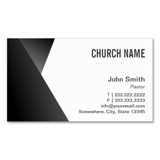 modern sharp black white pastor business card template - Pastor Business Cards