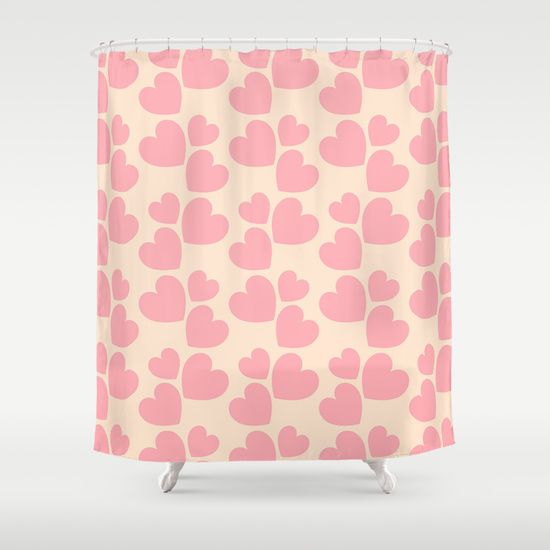 Http Society6 Com Product Pale Pink Love Hearts Shower Curtain Curator Kasseggs Curtains Shower Curtain Pink Love