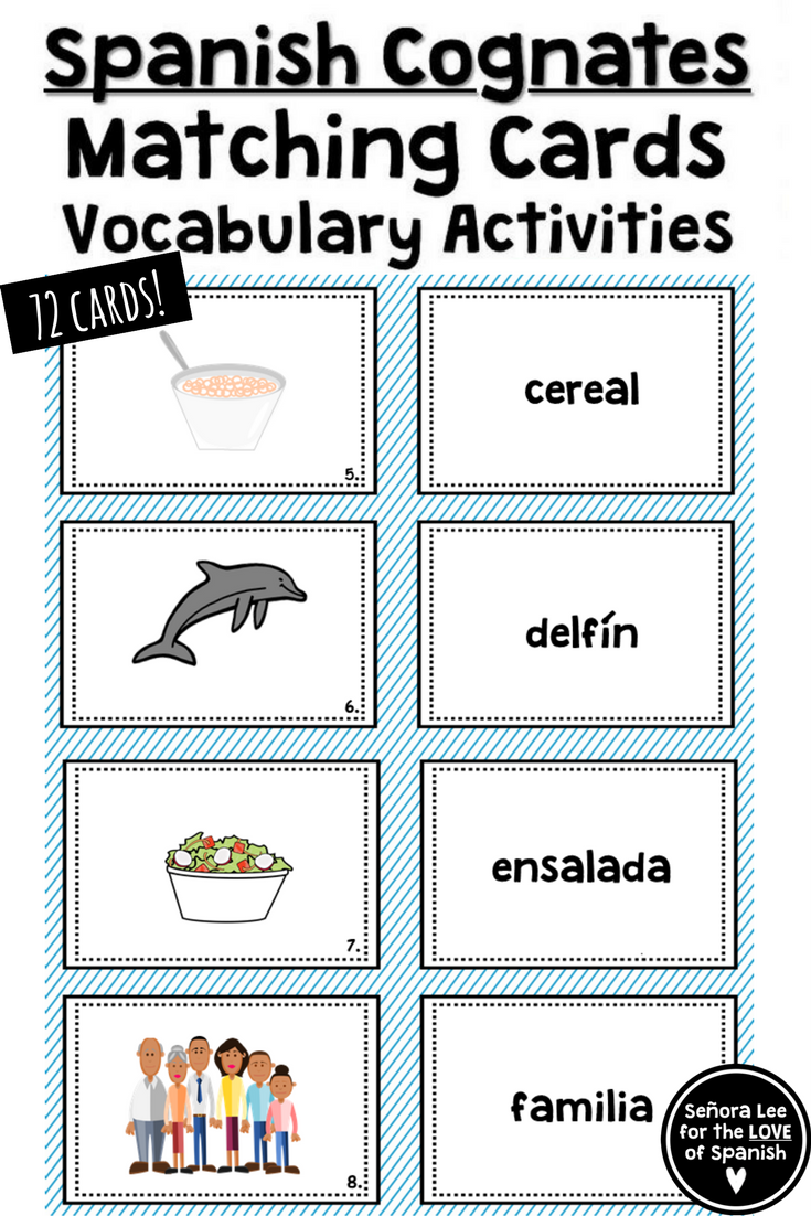 Spanish Cognates   Build Spanish vocabulary quickly and practice definite  and indefin…   Middle school spanish lessons [ 1102 x 735 Pixel ]
