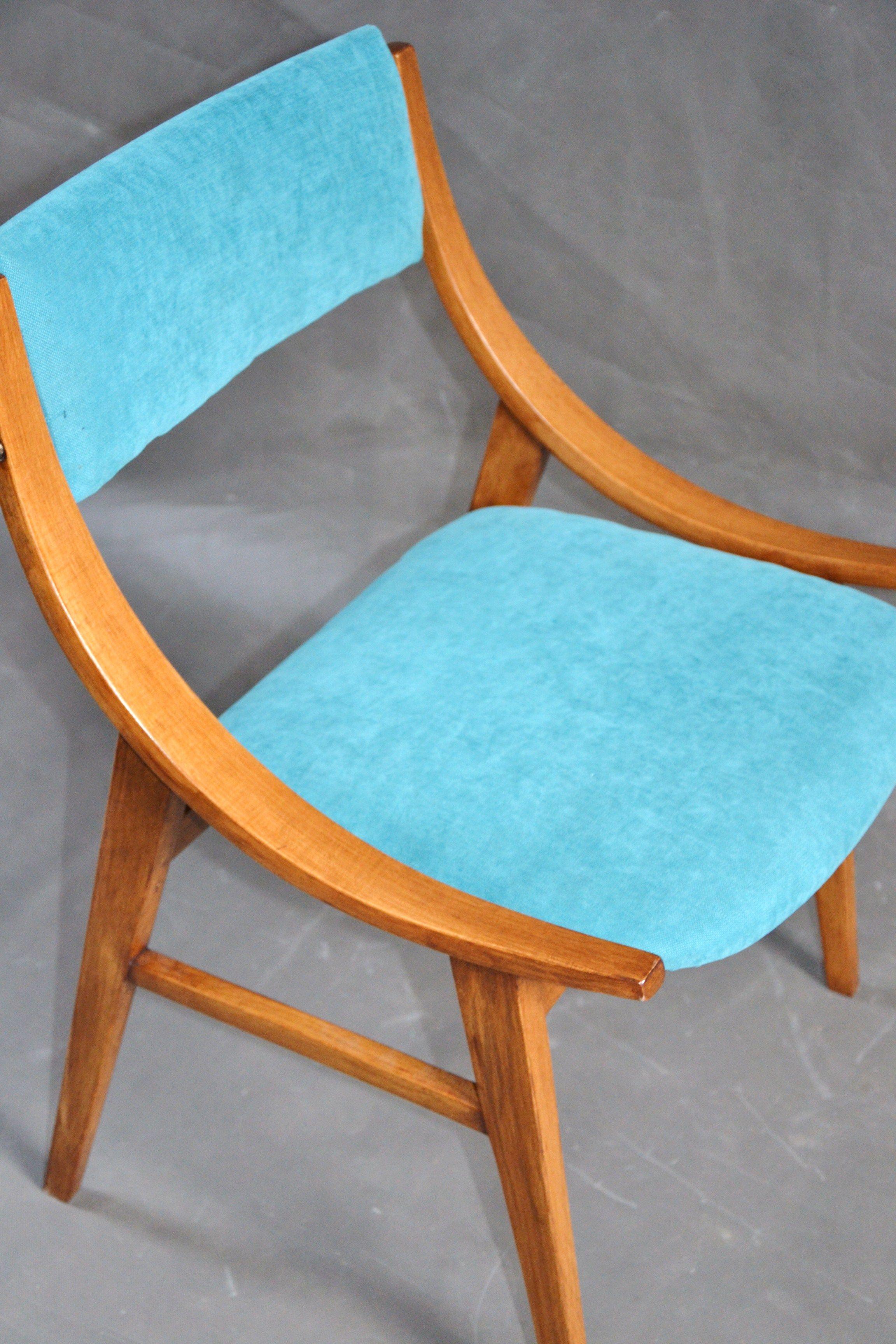 Polski Design Lata 60 Te Turkusowe Krzeslo Skoczek Zamojska Fabryki Mebli Symbol Wzornictwa Przemyslowego Czasow Prl U Pro Furniture Design Dining Chairs