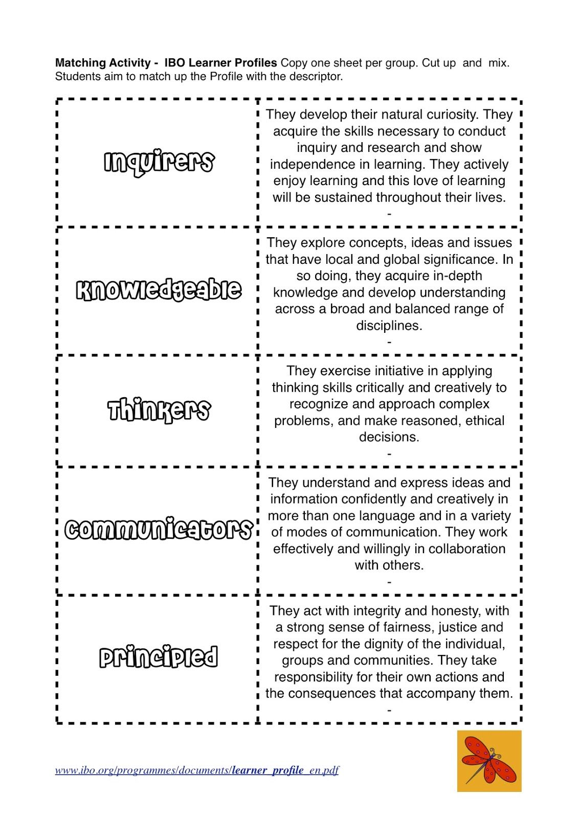 One Teacher S Journey The Learner Profiles